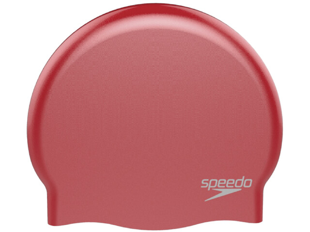 speedo Plain Moulded Siliconen Badmuts, red